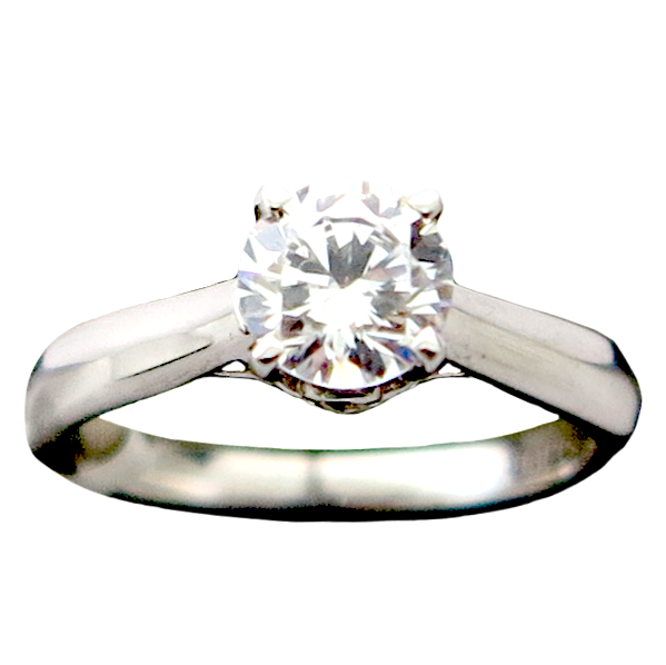 Solitaire Signity CZ Silver Ring
