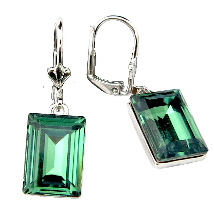 Emerald Swarovski Crystal Earring